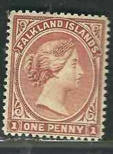 Falkland Is Stamps 11 SG 18 1d Orange Brown MLH VF 1891 SCV $135