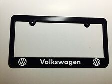 Volkswagen Logo Plastic License Plate Frame Holder Vinyl Decal GTI Jetta Golf