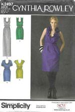 Simplicity Sewing Pattern 2497, Cynthia Rowley Dress, Long Maxi, Size 12-20 NEW