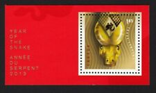 SNAKE = Zodiac = Embossing, Foil Stamping Canada 2014 MNH cut fr SS #2700a