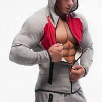 Winter Men's Athletic Casual Hooded Gyms Fitness Hoodie Jacket Tracksuit Coat