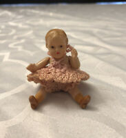 """Vintage Celluloid Strung Doll House 2.75"""" Doll Germany"""