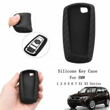 Carbon Fiber Style Silicone Remote Car Key Case For BMW 1 3 4 5 6 7 X1 X3 Series