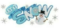 WINTER Let It Snow Snowflakes Snowman Glitter Jolee's Title Stickers Scrapbook