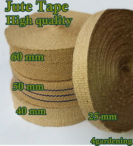 JUTE TAPE 100% NATURAL WEBBING STRAPPING  STRAP WEDDING DECORATION CANVAS