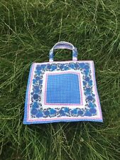 Hand Made Shopping Bag/Tote, Vintage 70s Fabric