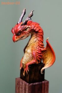 1/8 resin model kit miniatures young dragon (with base) high 120mm Monster