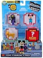 DISNEY Crossy strade Quattro Figure Mini Pack Simba, Minnie, Imperatore Zurg