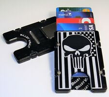American Flag Punisher, Aluminum Wallet/Credit Card Holder, RFID Protection, Blk