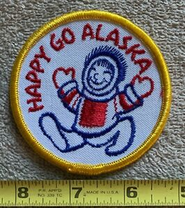Vintage Alaska Patch Alaskan Native Tribal Travel Souvenir