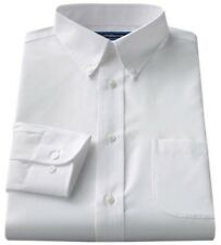 Croft & Barrow Mens Fitted White Dress Shirt Size 17 1/2 34/35
