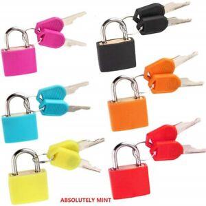 2 X 23mm Mini Small Padlock Home Door Travel Suitcase Luggage Bag Lock Padlocks