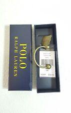 "$39.50 Polo Ralph Lauren Antiqued Brass Key Chain Fob ""RL67"" (NWB)"