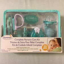 Summer Infant Complete Nursery Care Kit, 21 pieces Teal and White