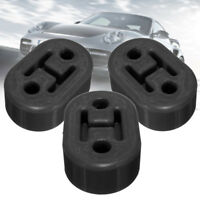 3PCS Black Universal Upgraded Heavy Duty Exhaust Rubber Hanger Support Mounts