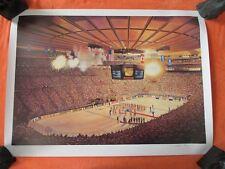 New York Rangers Banner Garden Party Litho 1995 by William Feldman LE 289/600 MT