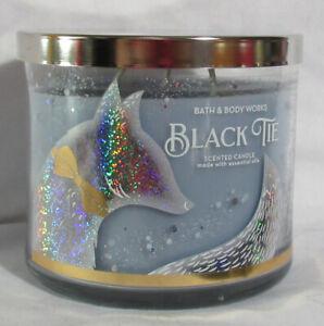 Bath & Body Works 3-wick 14.5 oz Jar Scented Candle BLACK TIE w/ essential oils