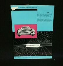 Original Porsche 356 A Speedster Carrera Coupe 550 Spyder Brochure