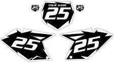 2007-2009 SUZUKI RMZ250 Custom Pre-Printed Black Backgrounds White Shock Series