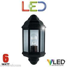 Searchlight Outdoor Half Wall Light Black Cast Aluminium Ip44 Rated 280BK