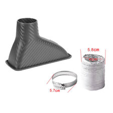 Car Bumper Turbo Air Intake Pipe Carbon Fiber Turbine Inlet Pipe Air Funnel Kit