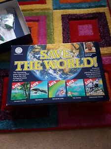 Save The World Board Game Featuring David Bellamy Vintage Rare Retro 1989