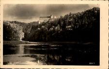 Worlik Orlik Tschechien alte Postkarte ~1950/60 Blick auf Burg Orlík nad Vltavou