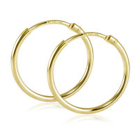 Creolen Gold 585 Kinder Damen Ohrringe Echt Gold flexible kleine Kreolen 17mm