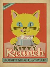 """""""Kitty Krunch"""", giclee open edition, Vintage Sign - Recreated 24x18"""
