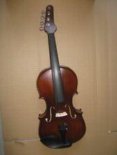 "4/4 violin  ""guitar neck"" maple back side spruce top ebony parts"
