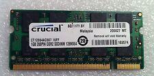 Apple MacBook A1181 2007 Black 13 Mid 2007 CRUCIAL 1GB RAM DDR2 Memory Genuine