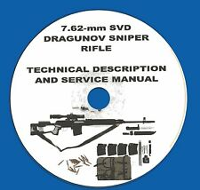 DRAGUNOV SVD Sniper Rifle Tech descripton & Service Manual,  on CD-ROM!
