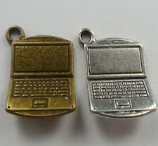 Free Ship 80pcs tibet silver and bronze plated laptop charms 22mm