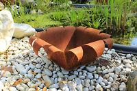 EDELROST Pflanzschale viereckig Schale Gartendeko Rost Edel Kunst Dekoration NEU