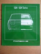 PORSCHE 924, opuscolo 1981 (UK) JM