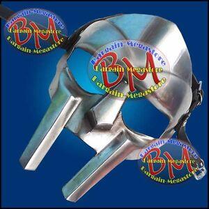 Roman Gladiator Helmet Face Mask Steel Hand Forged MF Doom Xmas New Year Party