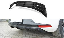 Cup Heckstoßstangen Ansatz CARBON für Seat Leon III 3 FR Heckschürze Diffusor