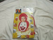 McDonalds ronald  Bib & Bonnet Costume Set 1998 Rubies (0-9 Months) - NEW! rare