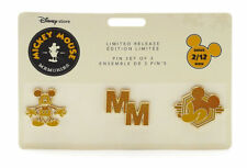 Disney Memories Mickey Mouse Pin Set With Card - February Limited Edition