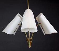 Splendido Vintage 1950' AUSTRIACA IN OTTONE DA APPENDERE Fixture Metà del Secolo chandelier