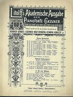 Robert Schumann, Wiegenliedchen Op. 124 No. 6 ~  übergroße, alte Noten