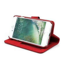 """Prodigee Wallegee Red iPhone 7 PLUS 5.5"""" Card Wallet Leather Flip Case Cover"""