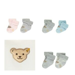 Steiff Mädchen 2 Paar Socke Söckchen gr 74-80 17-18 Schuhgröße navy