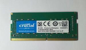 Crucial 4GB 1x4GB 1Rx16 PC4 2400T CT4G4SFS824A.C8FG DDR4 260Pin Laptop