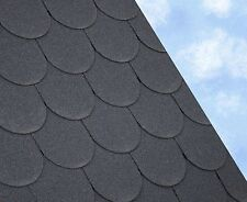 SCALLOPED Felt Roofing Shingles | Shed Roof Shingles | BLACK FIVE TAB 3M2/PACK