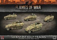 Flames of War BNIB Sd Kfz 251 Half-Tracks (Plastic) GBX124