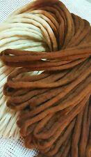 Wool Dreadlocks Custom Wool Dreads set of 50 Double Ended 44 inch total