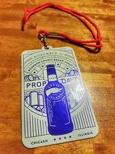 Goose Island Prop Day 2018 Badge Lanyard Proprietors Bourbon County Unpunched!