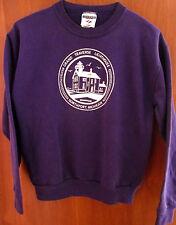 GRAND TRAVERSE Lighthouse Museum youth lrg purple sweatshirt size 14-16 seal