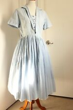 Volup vintage, blue gingham 50s/60s shirtwaist, shirt dress